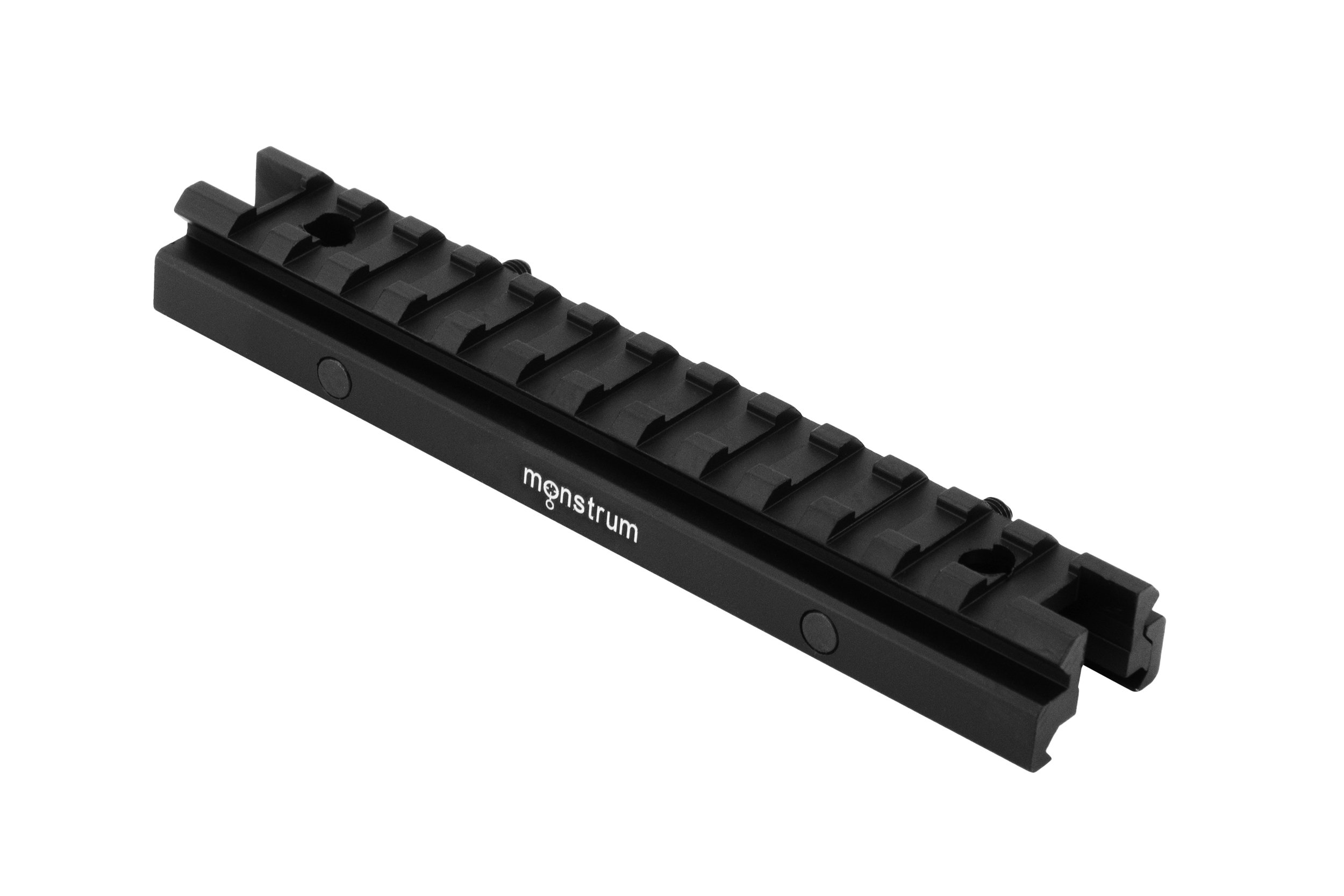 Monstrum Tactical Low Profile Picatinny Riser Mount (0.5'' H x 5.7'' L), for Scopes and Optics