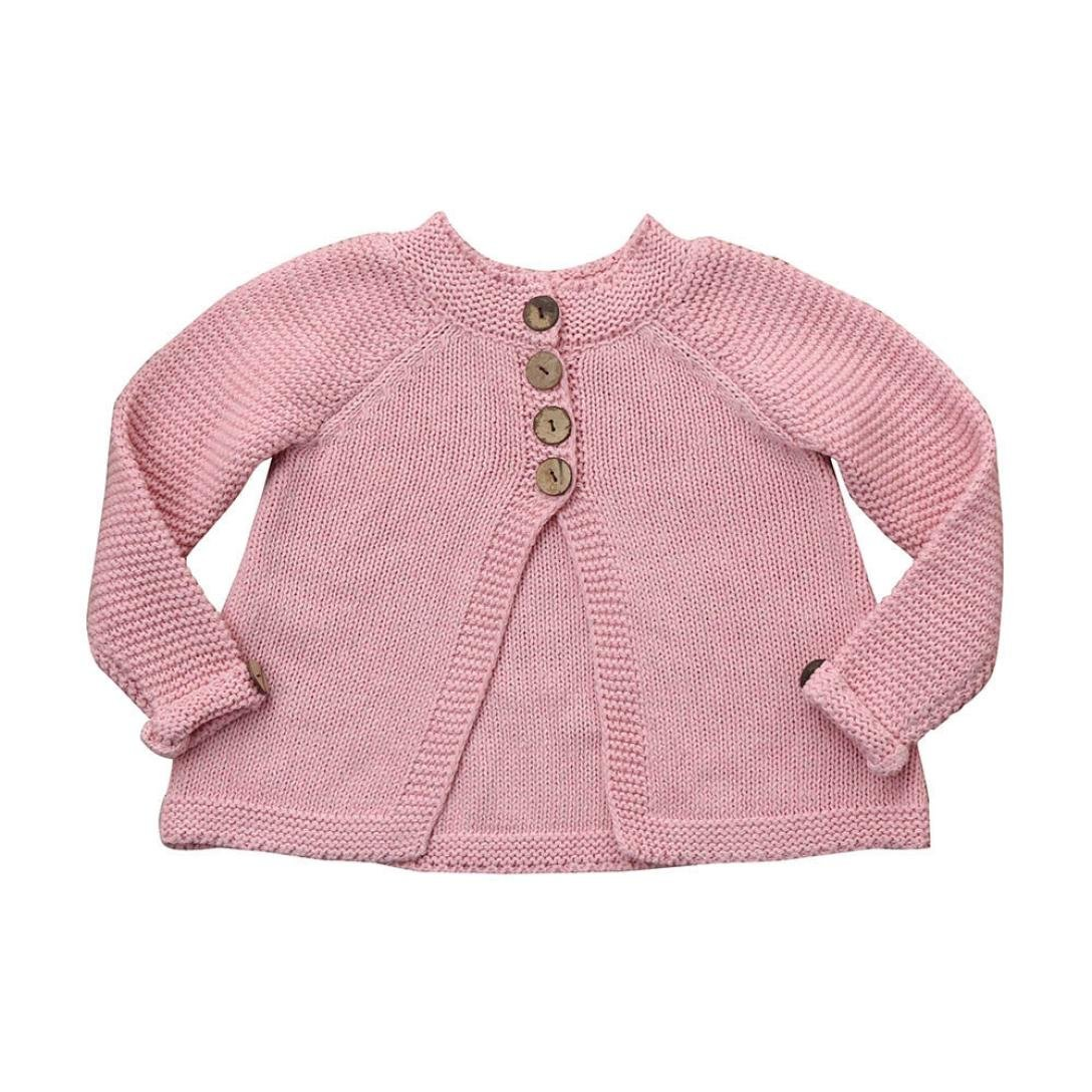 ad777d4fd Amazon.com  Toddler Baby Girls Kids Button Knitted Sweater Cardigan ...