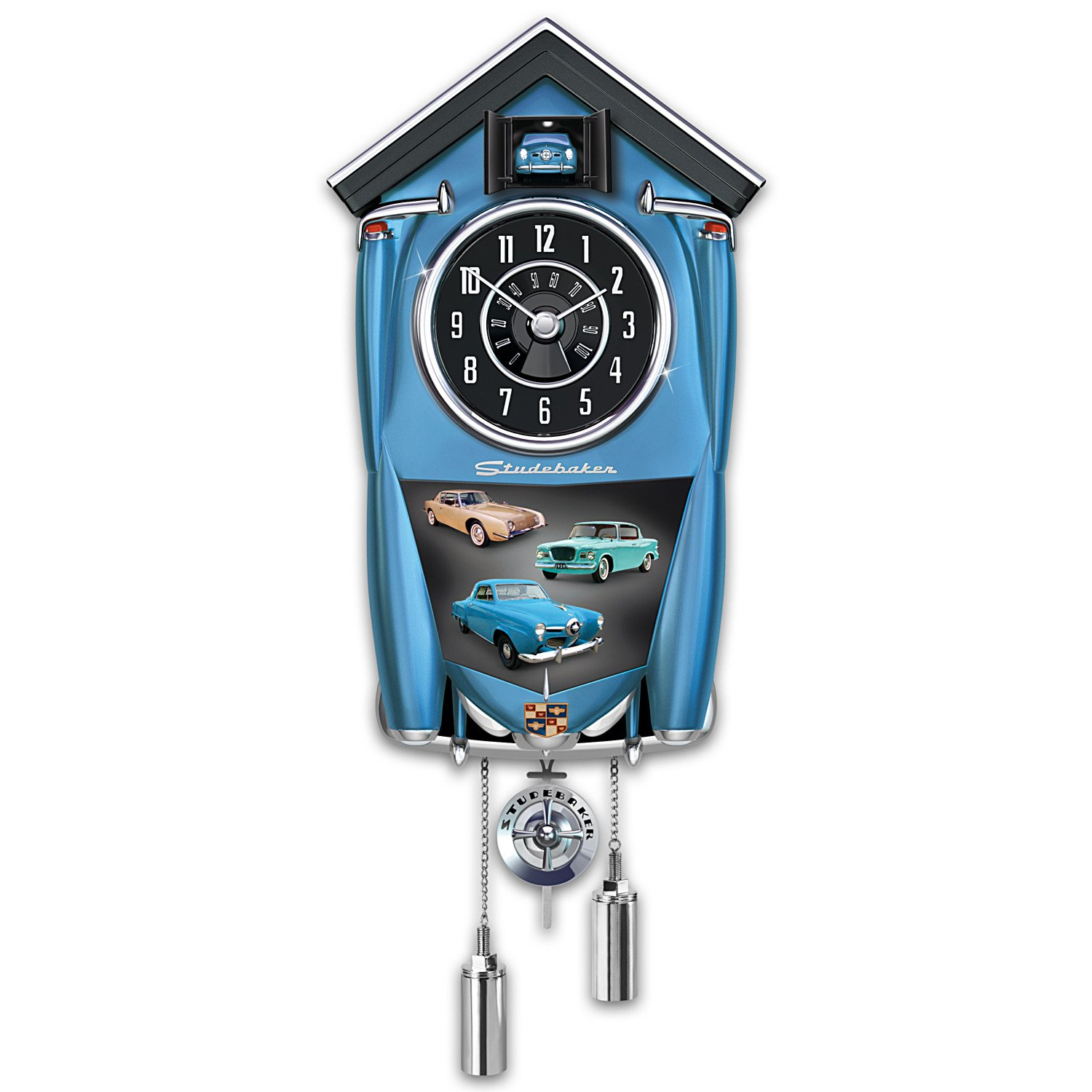Studebaker Cuckoo Clock with Champion Lark Regal And Avanti Art: 1 of 10,000 by The Bradford Exchange 01-19724-001