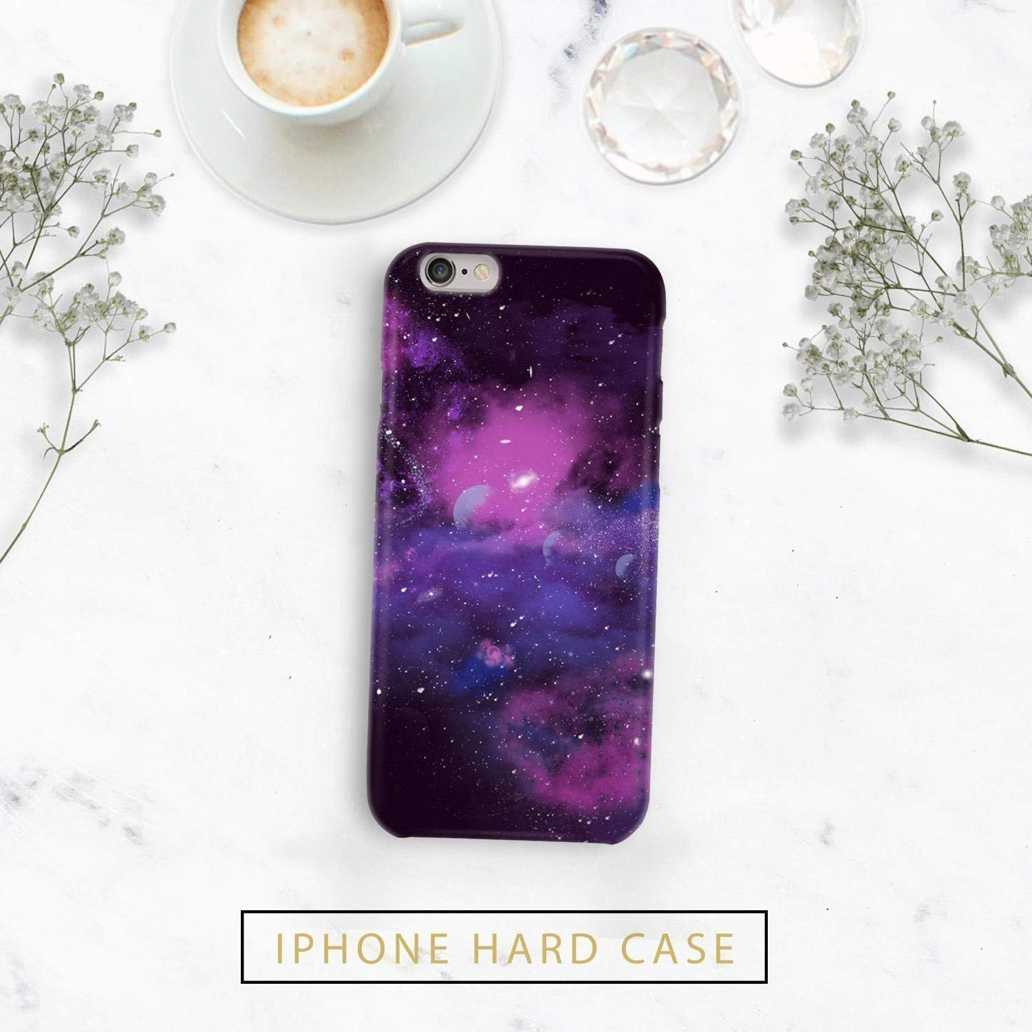 Galaxy Purple nabula iphone case