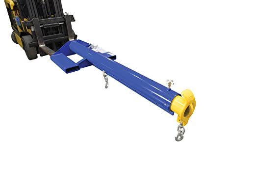 Vestil LM-EBT-6-24 Steel Telescoping Lift Master Economy Boom, 6000 lb. Capacity, Blue Overall LxWxH (in.) 32 x 86.25 x 13.5, Overall Extended Length (in.) 151-1/2