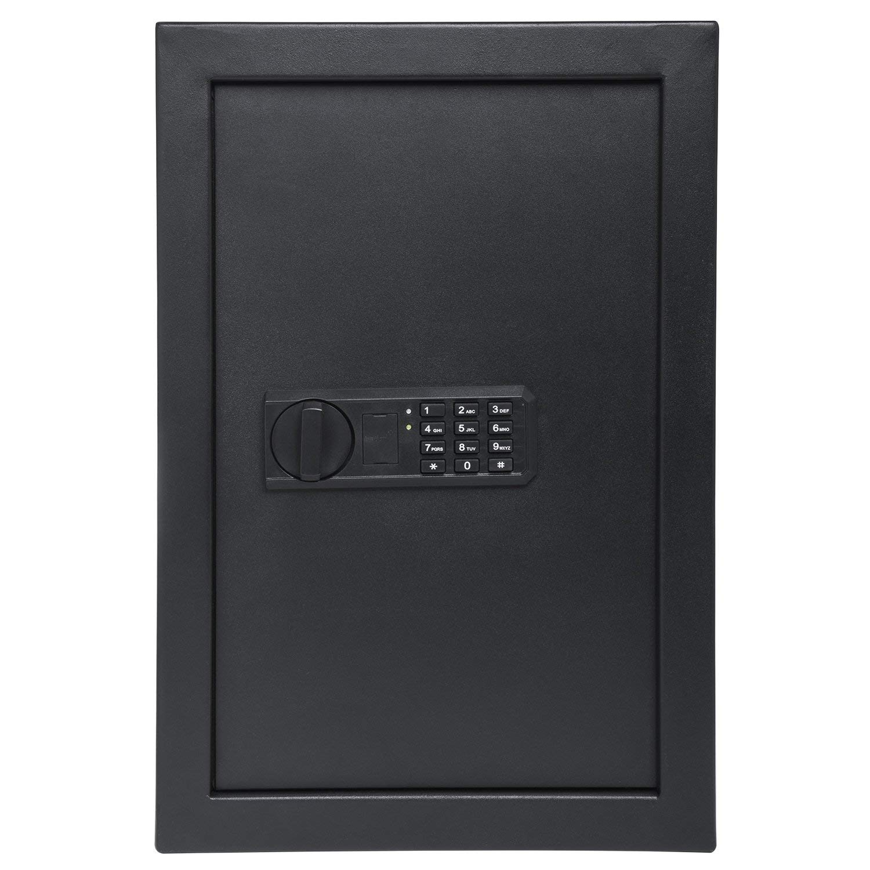 "Ivation Wall Safe, 20.6"" x 13.8"" x 3.7"" Home Security Box, Backup Keys & Mounting Kit (Keypad) (Renewed)"