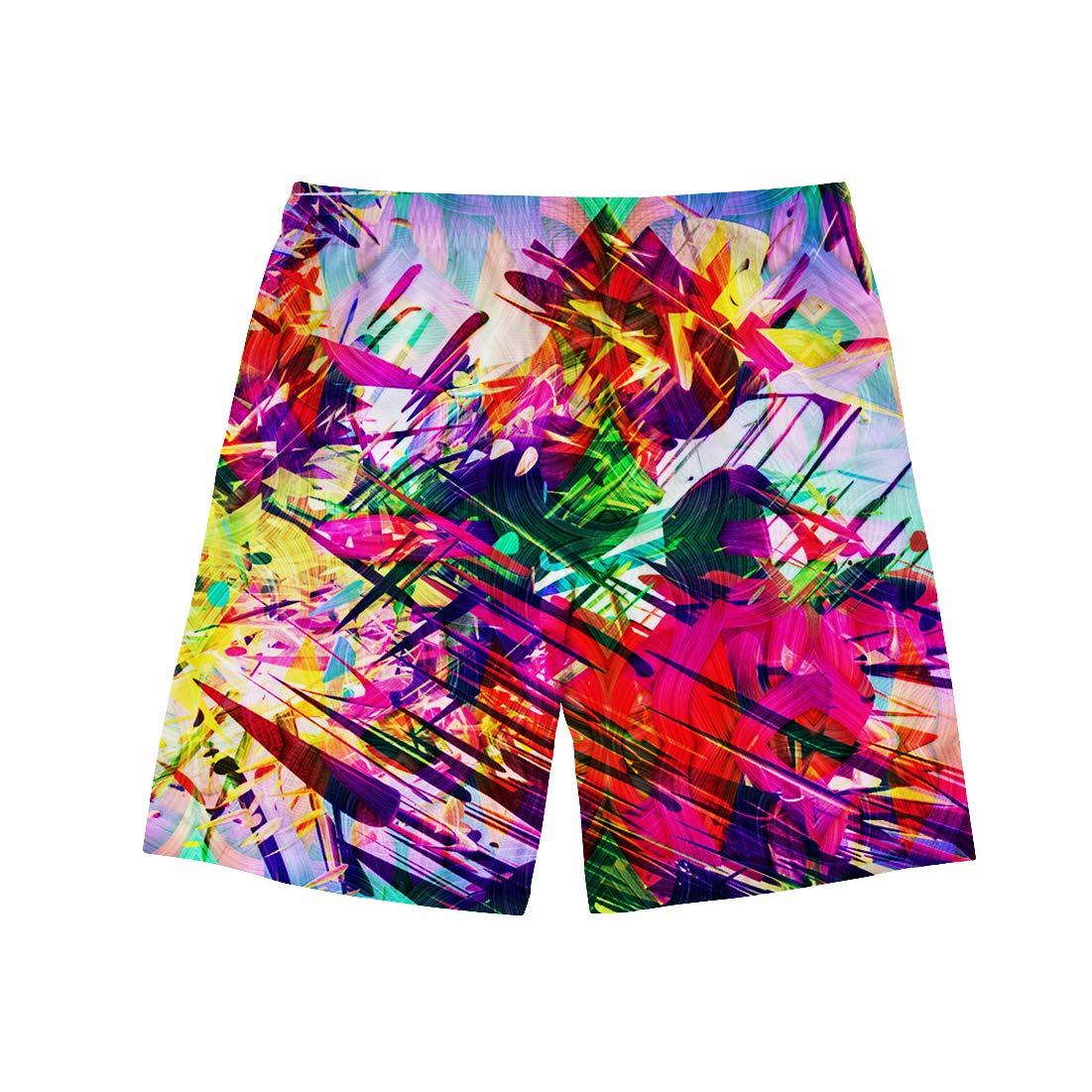 HMML Men Swim Trunks Quick Dry Surfing Beach Board Shorts Elastic Waist Pockets with Mesh Lining