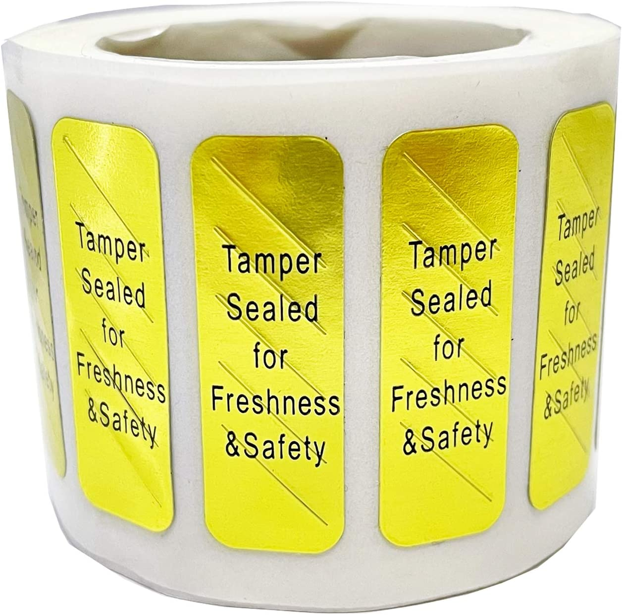 Tamper Sealed for Freshness and Safety Food Delivery Stickers 0.5X1.5 inch Tamper Evident Labels for Food Containers Bags 500 pcs Per Roll