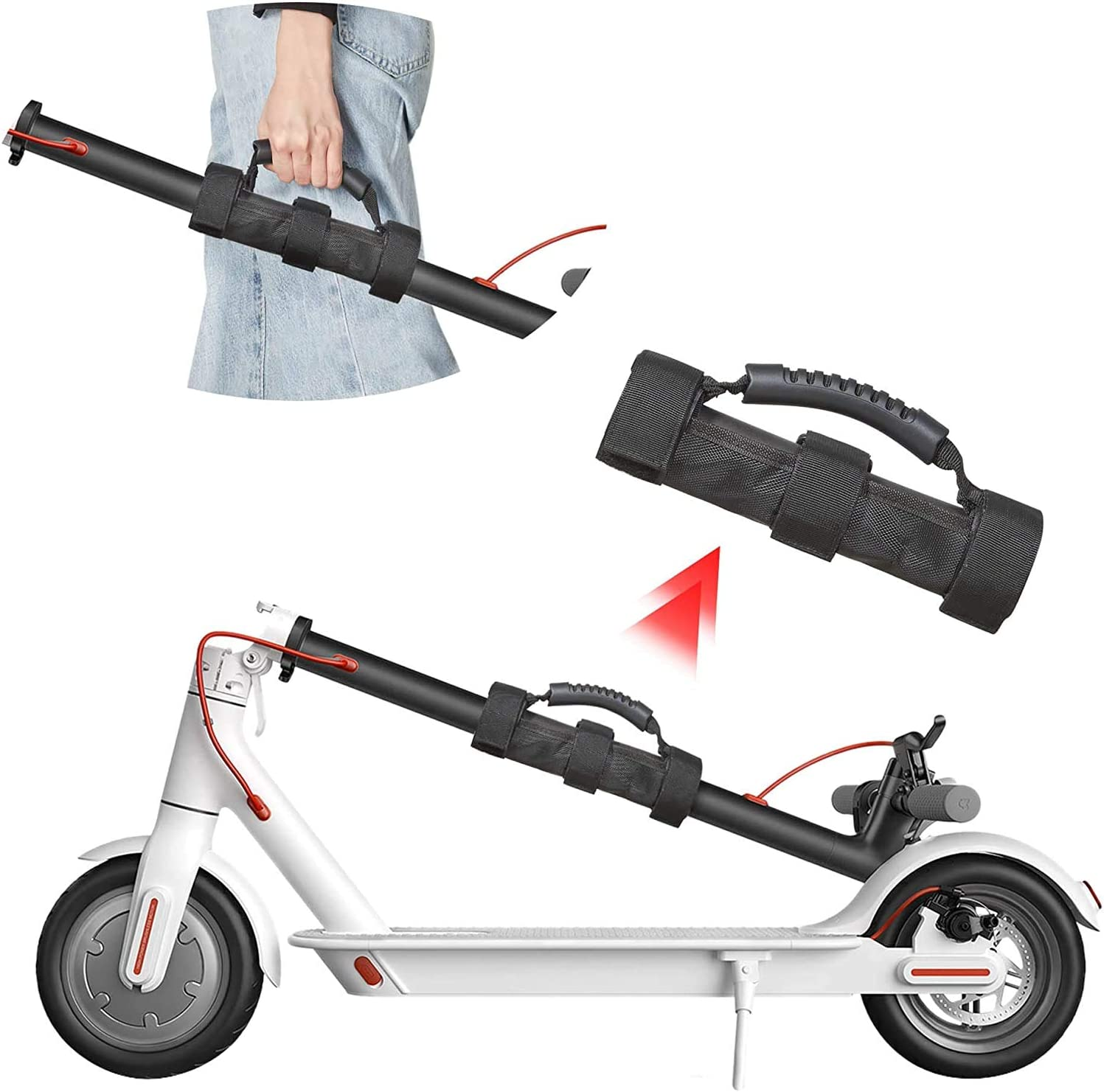 PALAM Scooters Carry Handle Strap Portable Hand Carrying Belt for Kick Scooter Electric Scooter Folding Bike with Innovative Gel Non-Slip