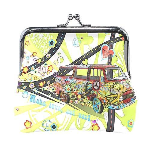 Amazon.com: Monedero Hippie coche mujer cartera embrague ...