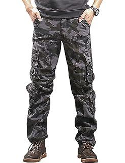 Vepodrau Men Cargo Pant Outdoor Casual Military Full Work Pants