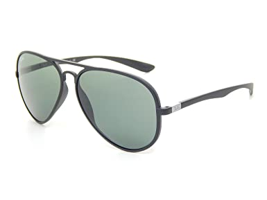 b8e9d44f11946 New Ray Ban RB4180 601S71 Liteforce Aviator Tech Matte Black Green 58mm  Sunglasses  Amazon.co.uk  Clothing