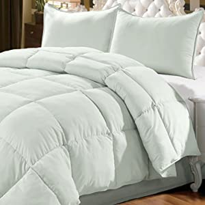 Home Soft Things Serenta 3 Piece Down Alternative Comforter Set, King Chalk Blue