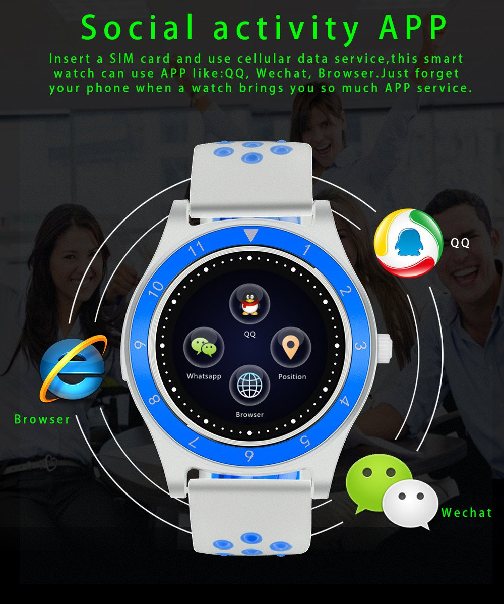 Amazon.com: Harpi 2018 Smart Watch Pedometer Sleep Monitor Sedentary Remind with HD Camera Smart Bracelet Watch (Color A): Sports & Outdoors