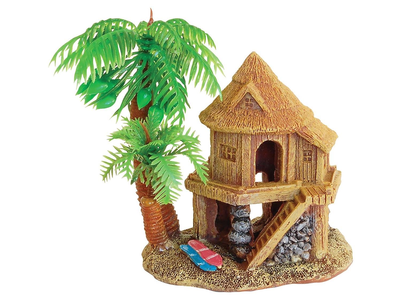 Red Aqua Spectra casa de Playa con Palmeras decoración Adorno: Amazon.es: Productos para mascotas