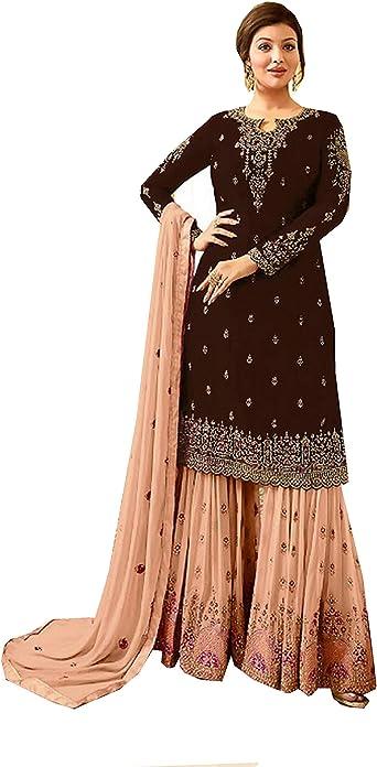 Indian Pakistani gharara plazo ethnic wear wedding gharara