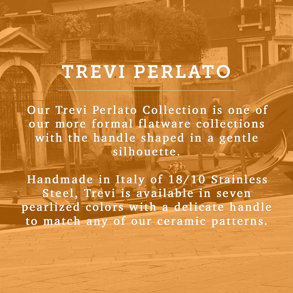 Italian Dinnerware - Large Butter Knife - Handmade in Italy from our Trevi Perlato Collection