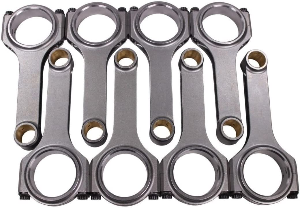 """Chevy SBC 350 I Beam 6.125/"""" 2.100/"""" .927/"""" Bronze Bush 5140 Connecting Rods Suits"""
