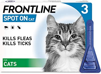 Frontline Spot On Flea Tick Treatment For Cats 3 Pipettes
