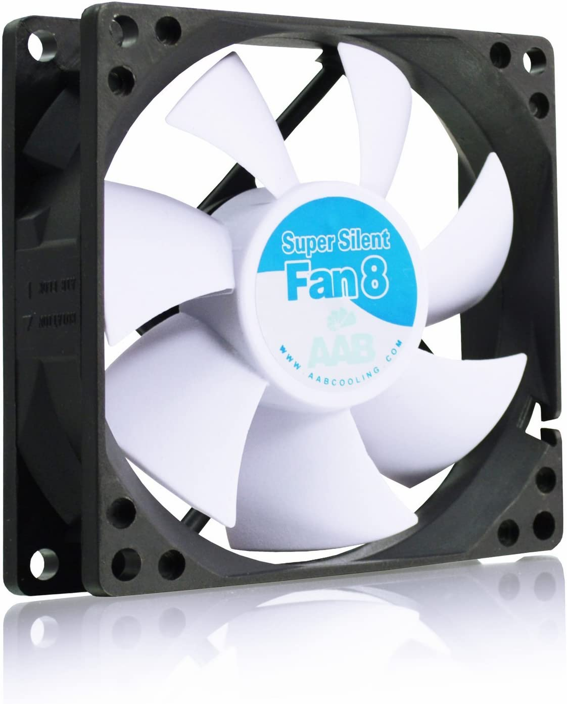 AAB Cooling Super Silent Fan 8 - Un Silencioso y Muy Efectivo Ventilador 80mm, Ventilador Laptop, Fan Cooler 8cm, Fan PC, 33m3/h, 1600 RPM