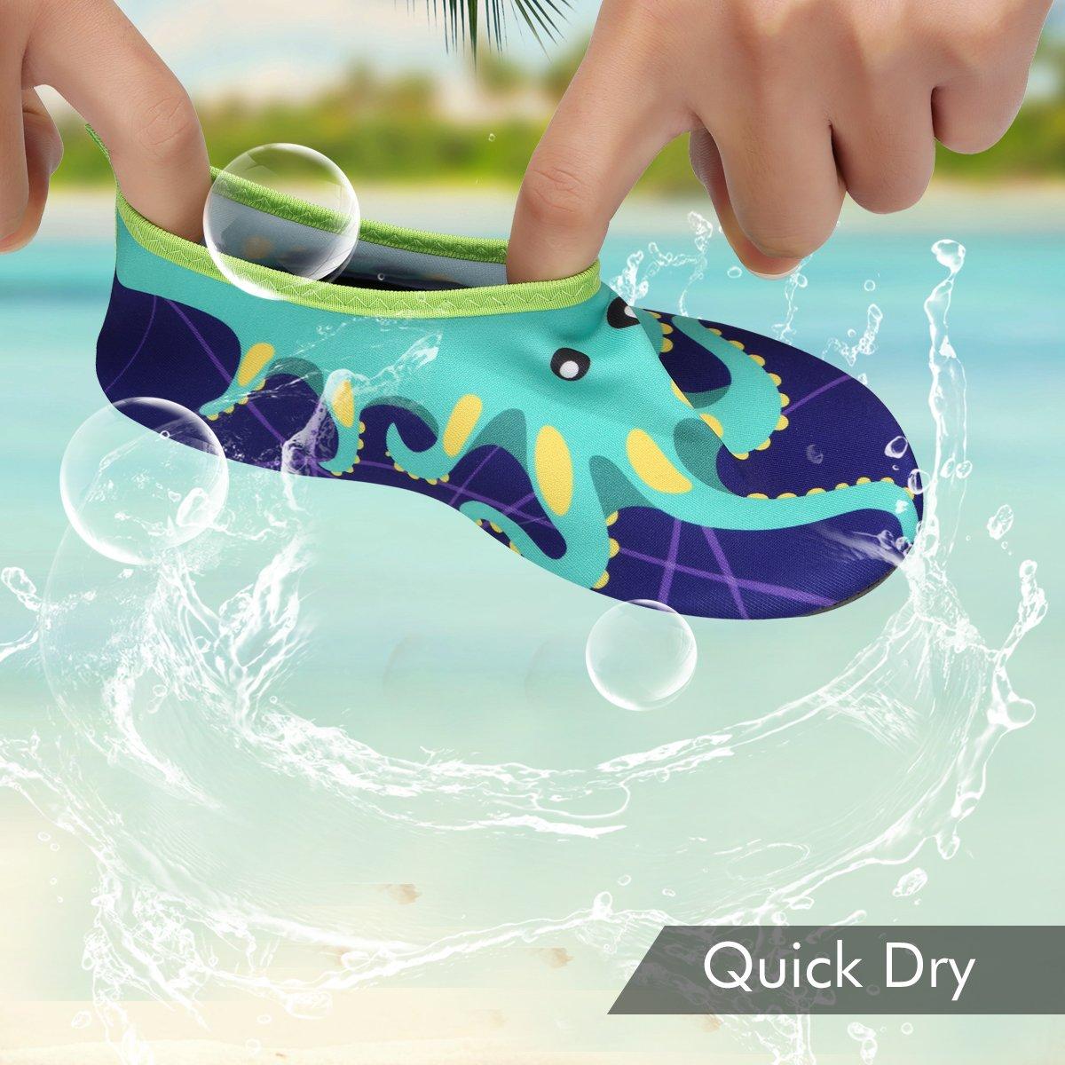 Qimaoo Kinder Badeschuhe Leicht Schwimmschuhe Schnell Trocknend Wasserschuhe Casual Strandschuhe Baby Surfschuhe Aquaschuhe f/ür M/ädchen und Jungen Gr/ö/ße32//33