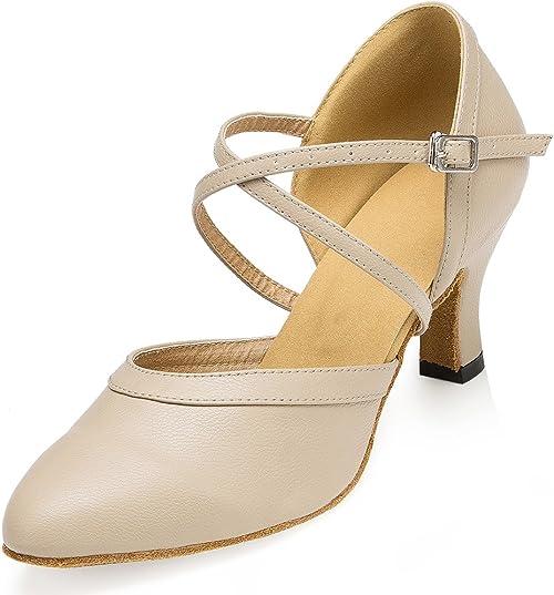 Modern Women/'s Ballroom Latin Tango Dance Shoes Salsa Heels Dancing Shoes