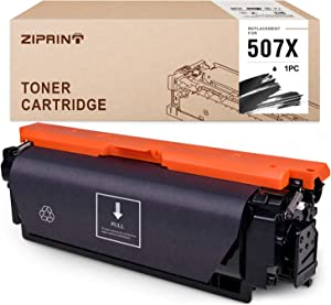 ZIPRINT Compatible Black Toner Cartridge Replacement for HP 507 507X CE400X 507A use for Laserjet Enterprise 500 Color M551n M551dn M551xh M570dn M575dn M575f M575c