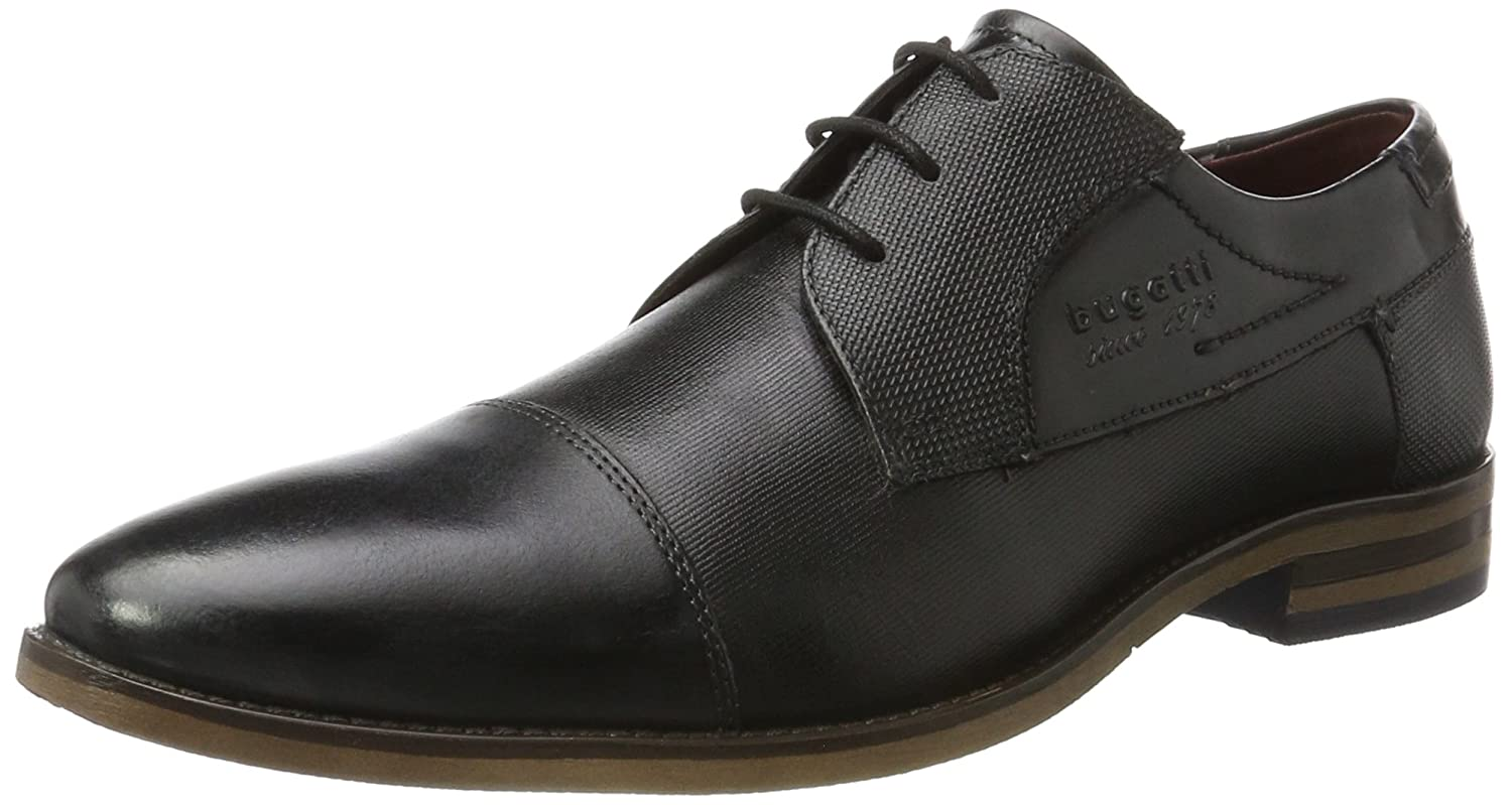 312164031110, Derby Homme, Gris (Grey/Black), 42 EUBugatti