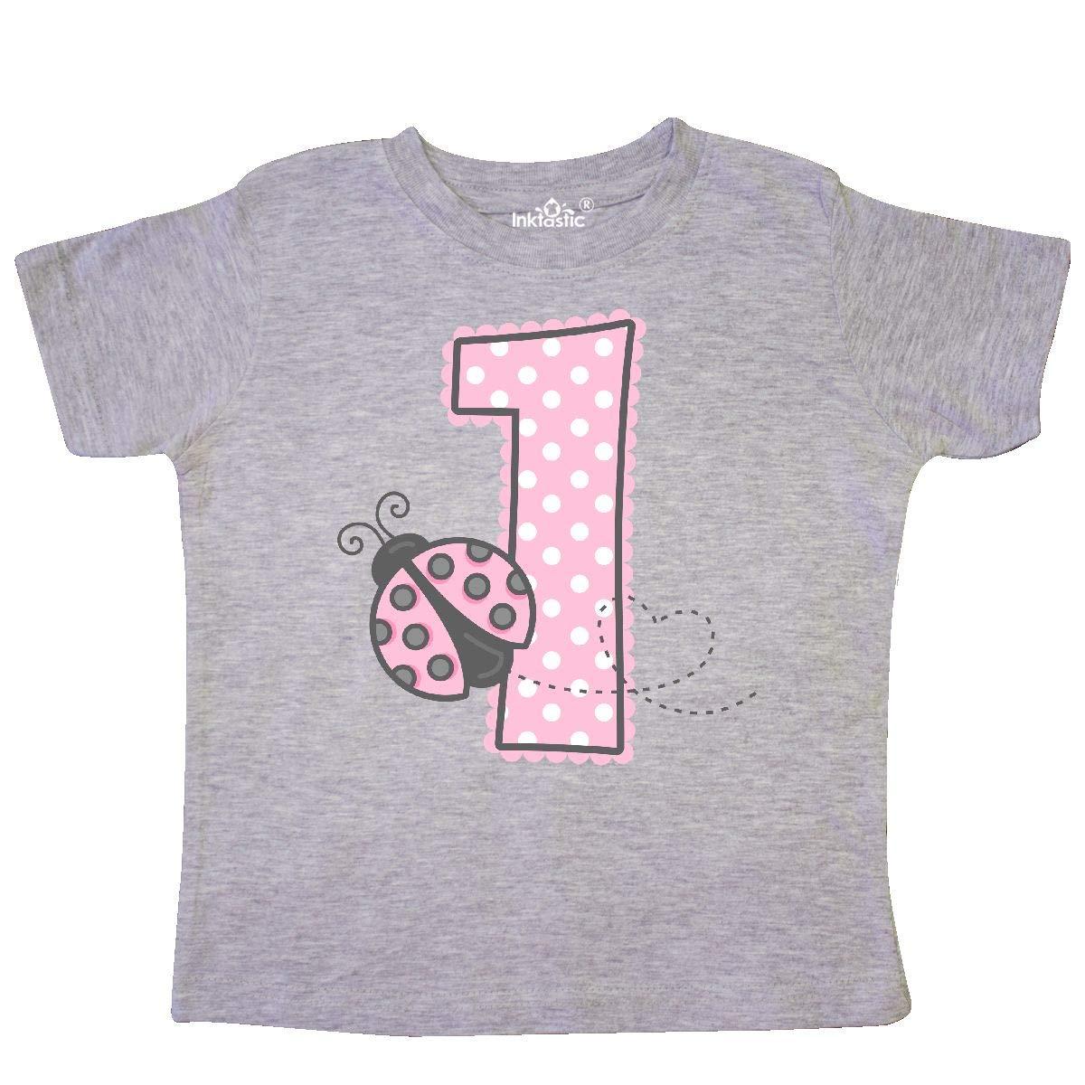 inktastic Pink Ladybug 1st Birthday Toddler T-Shirt