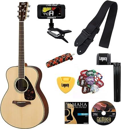 Yamaha fs830 pequeño cuerpo guitarra, parte superior sólida ...