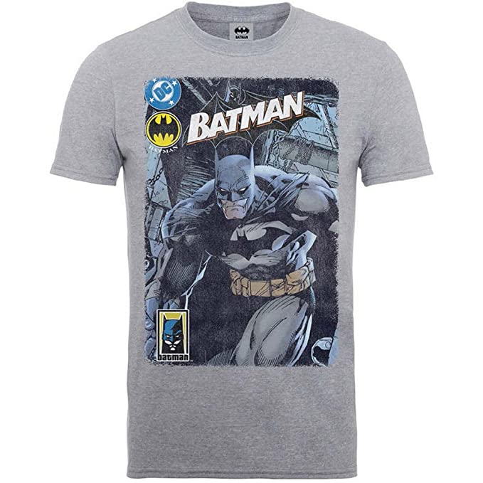 ce2eebc6e Batman DC Comics Bruce Wayne The Dark Knight Oficial Camiseta para Hombre  (Small)