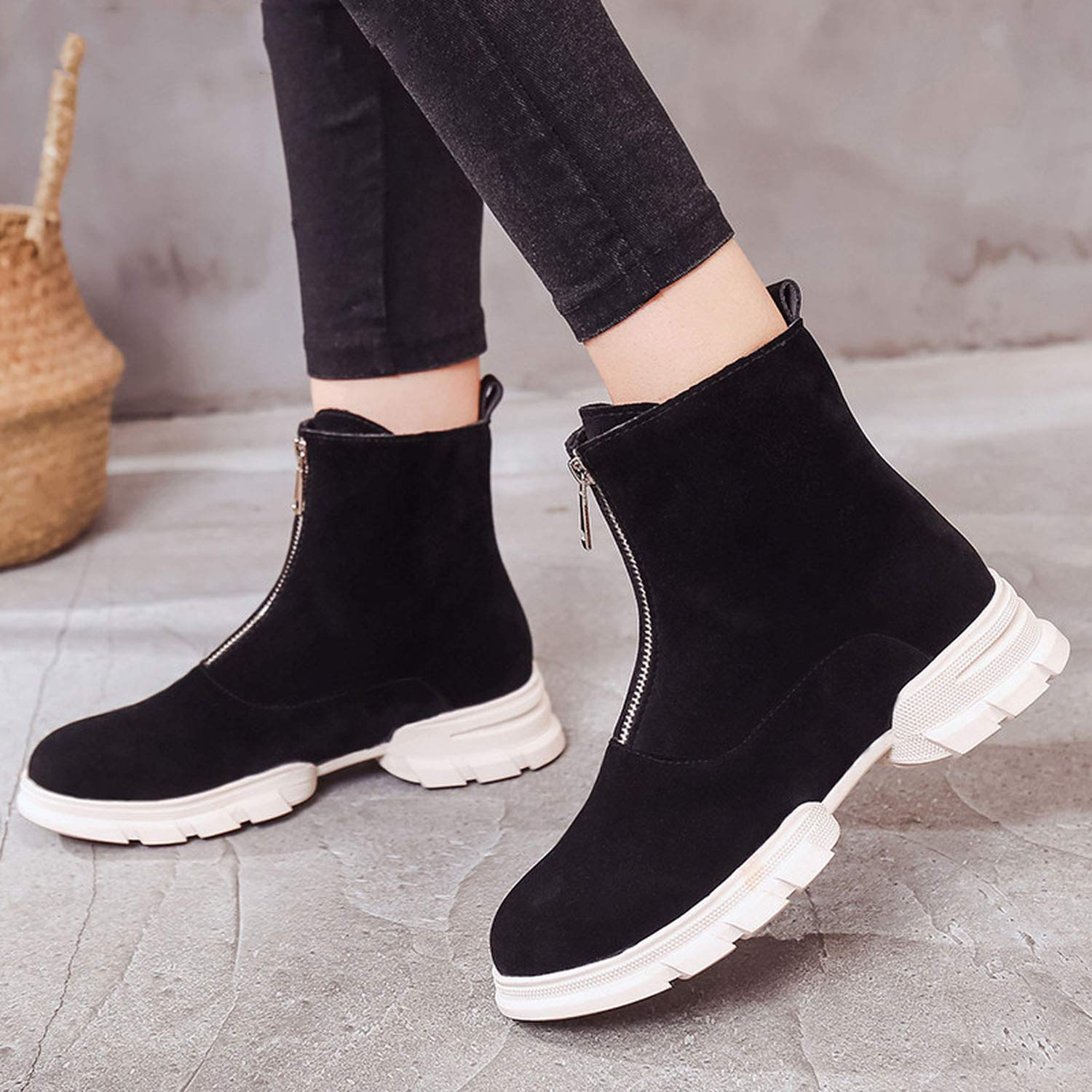 Amazon.com | Fragrancety 2018 Luxury Snow Boots Autumn Winter Boots Women Leather Ankle Boots Ladies Platform Boots | Snow Boots