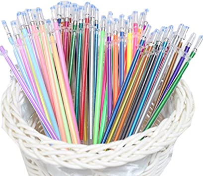 12//24//36//48 Piece Gel Pen Set Metallic Pastel Glitter Neon Painting Pens