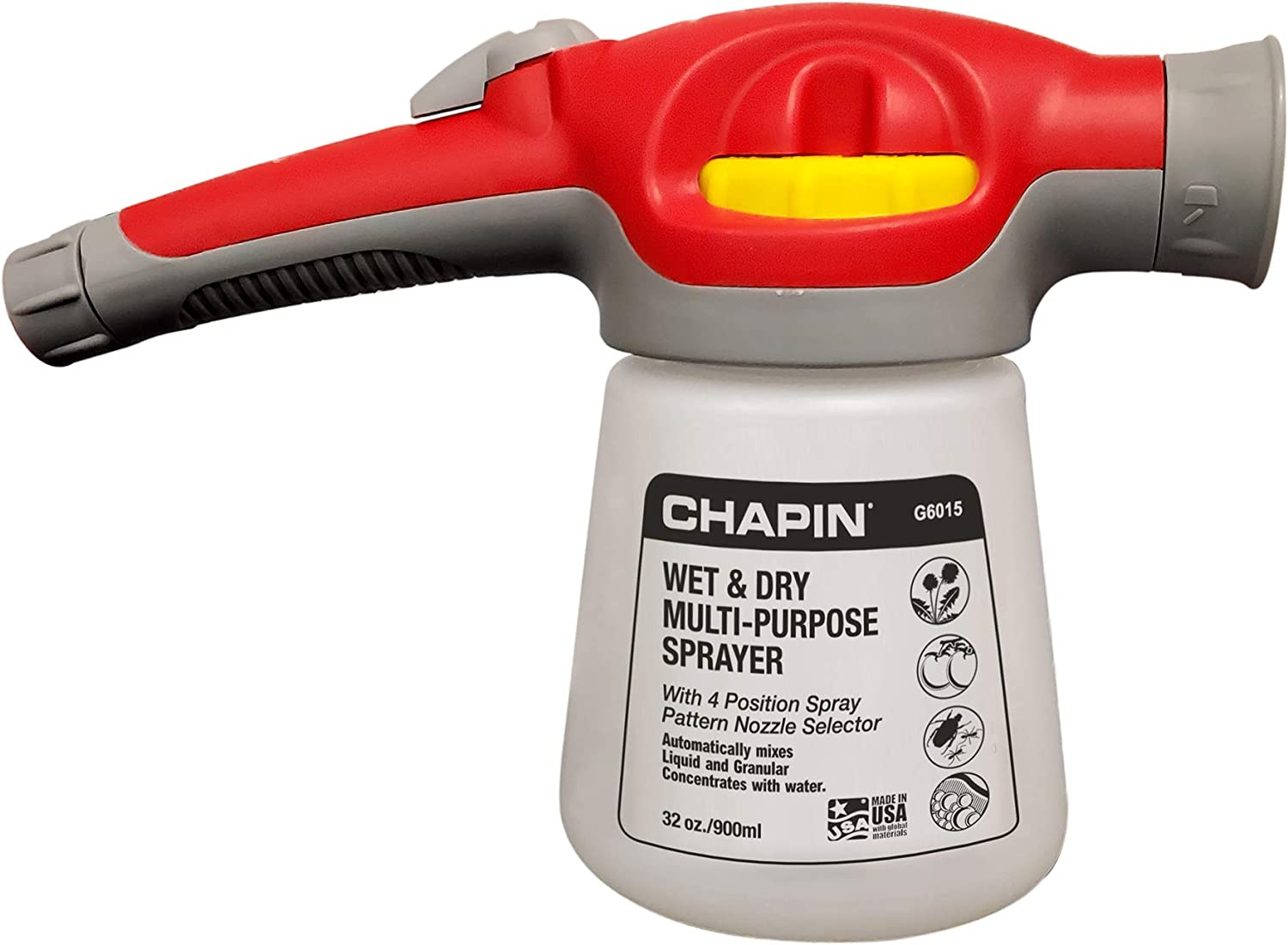 Chapin International G6015 Wet/Dry Hose-End Sprayer, Translucent