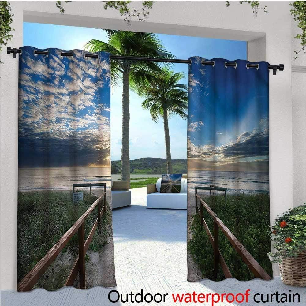 Cortinas Opacas de Playa para Exteriores con diseño de Palmera en ...