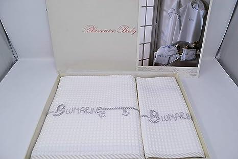 Arredo Bagno Blumarine : Blumarine baby set asciugamani bagno cotone babalu var tortora