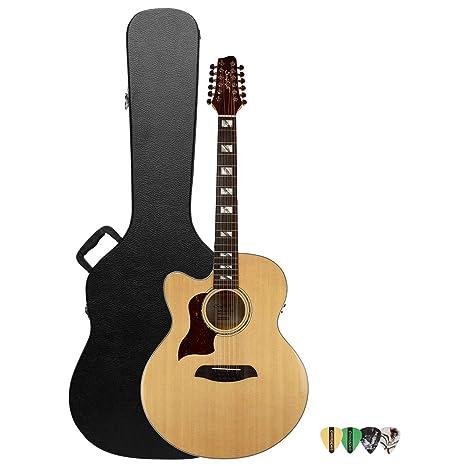 Sawtooth - Guitarra acústica de 12 cuerdas (ST-MPL-AEJC-12-LH-KIT ...