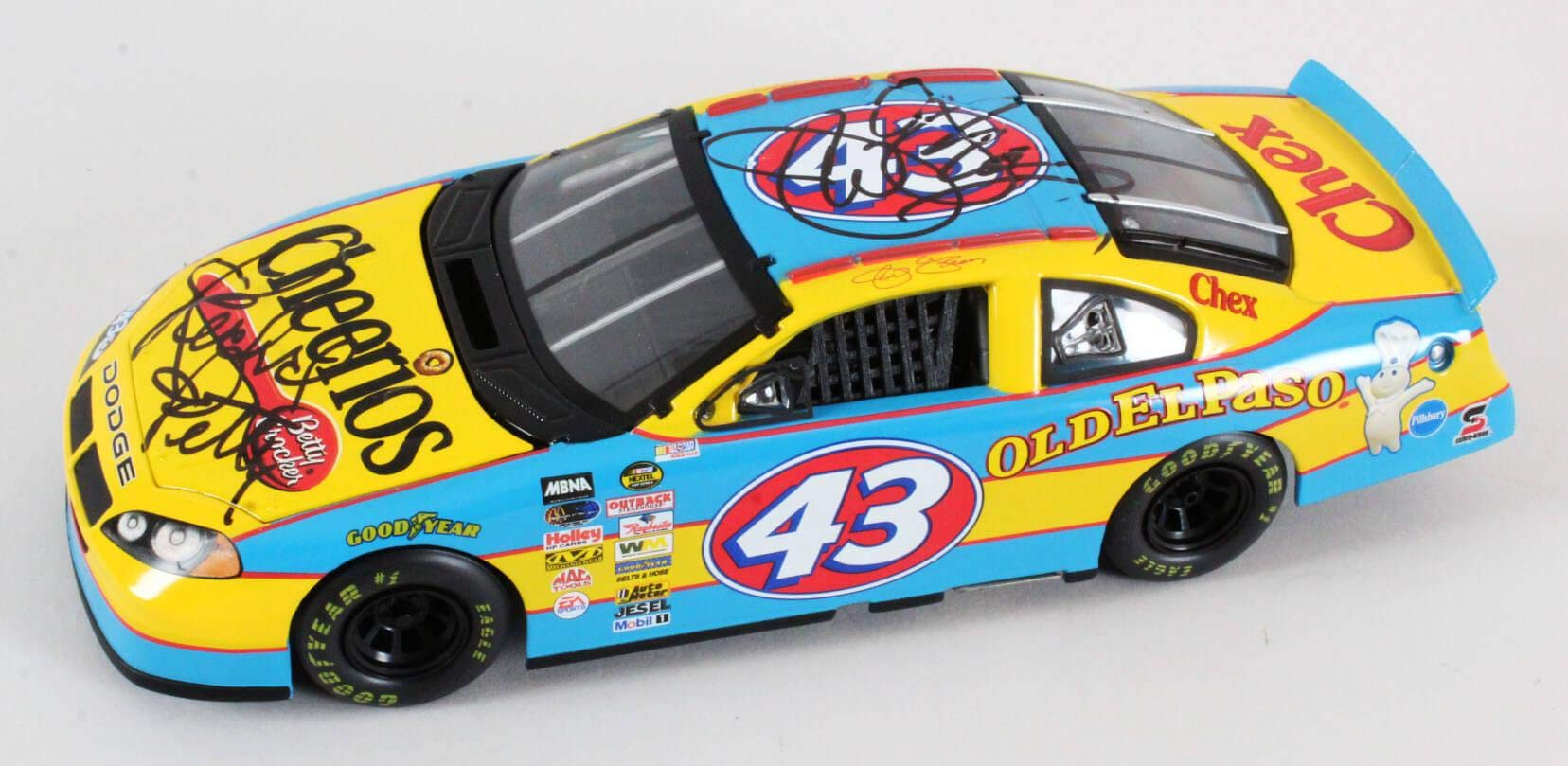 Richard Petty Signed Die Cast Car w/Jeff Green COA JSA Certified Autographed Diecast Cars