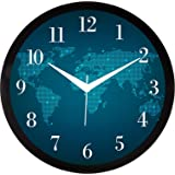 RAG28 11.75 Inches Designer Round Wall Clock with Glass for Home/Kitchen/Living Room/Bedroom (9101)