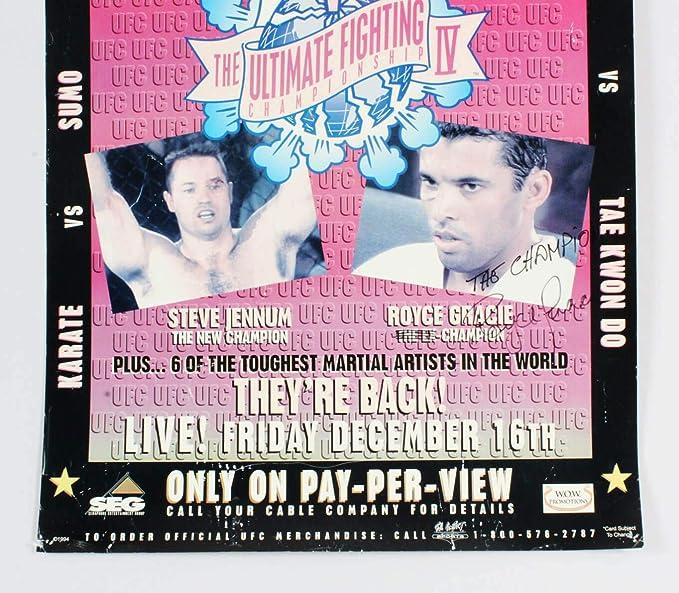 מגניב Royce Gracie Signed Poster UFC 4 SEG - COA JSA at Amazon's Sports PF-01