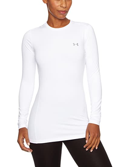 737e525f6d70a Image not available for. Color  Under Armour UA ColdGear Fitted Crew SM  White