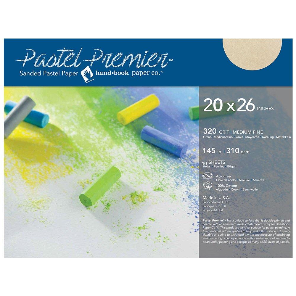 Pastel Premier Paper Buff 20x26 10-Sheets by Handbook