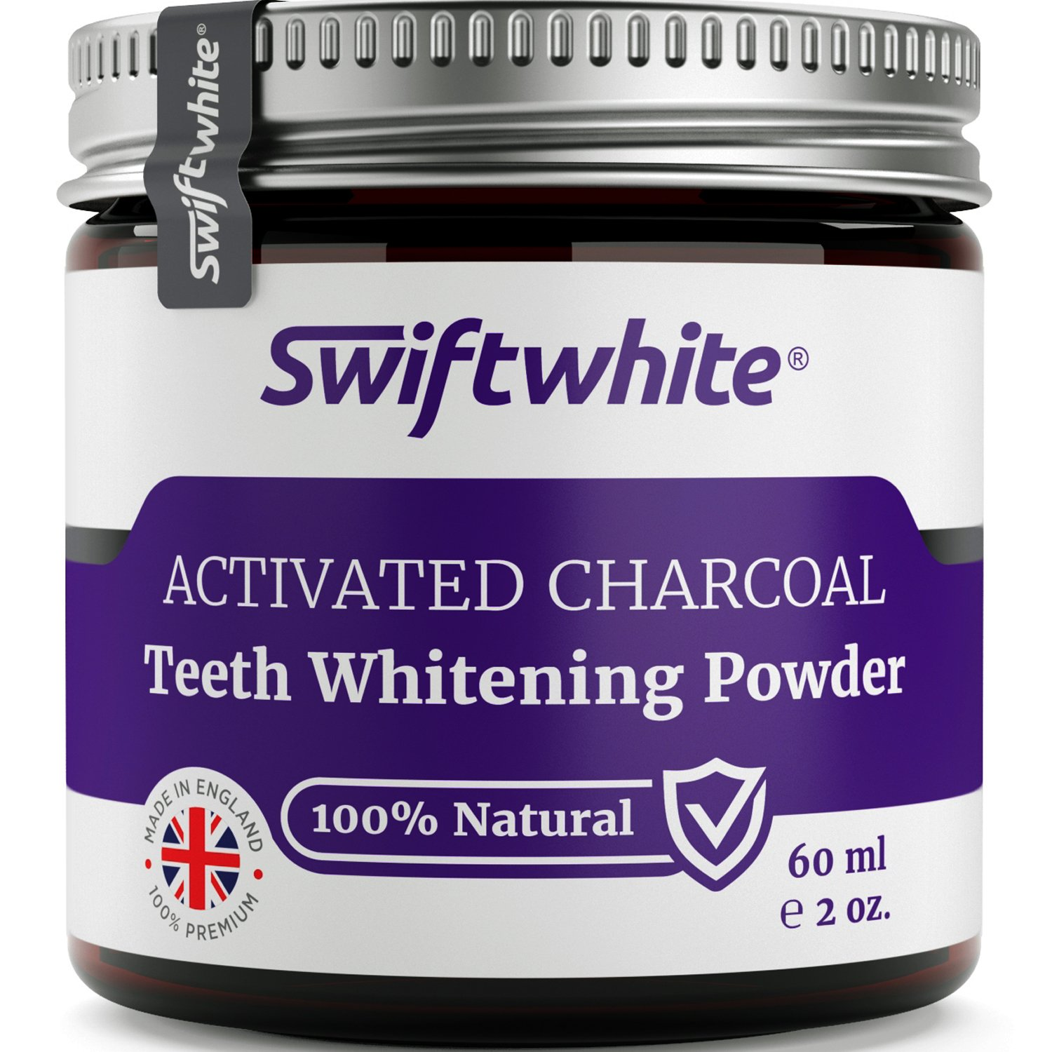 activated charcoal teeth whitening powder 60ml by swiftwhite 100