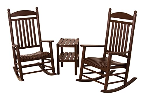 POLYWOOD PWS140-1-MA Jefferson 3-Piece Rocker Chair Set