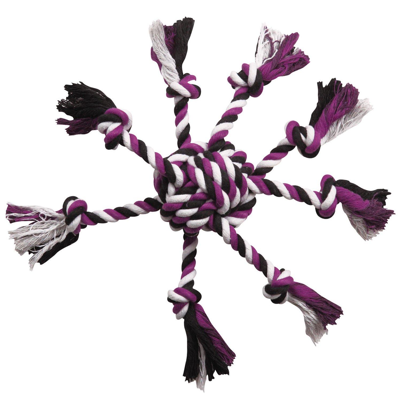 Zanies Crazy Eight Rope Dog Toys, Purple