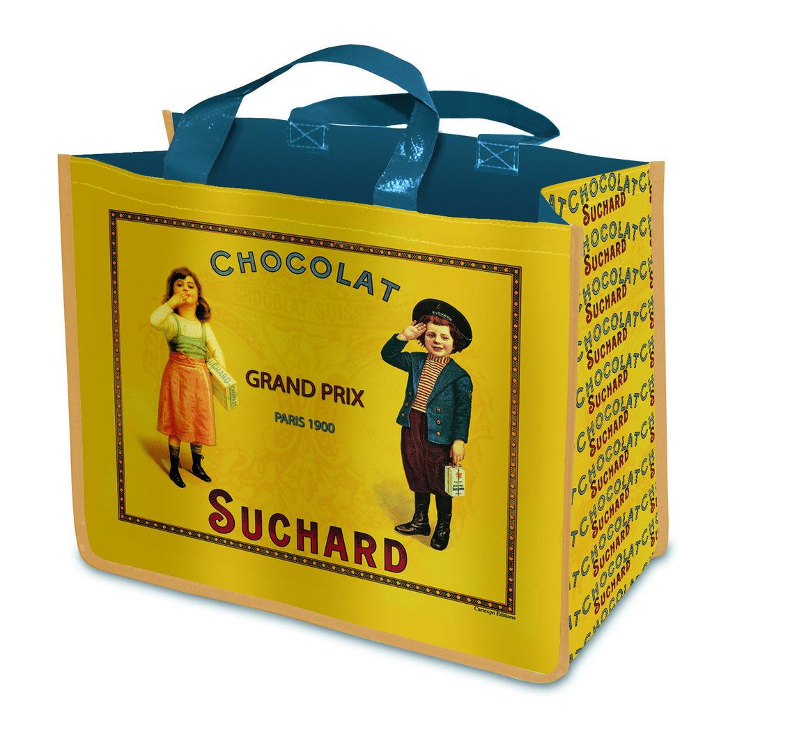 SAC CABAS SHOPPING PUBLICITE ANCIENNE CHOCOLAT SUCHARD