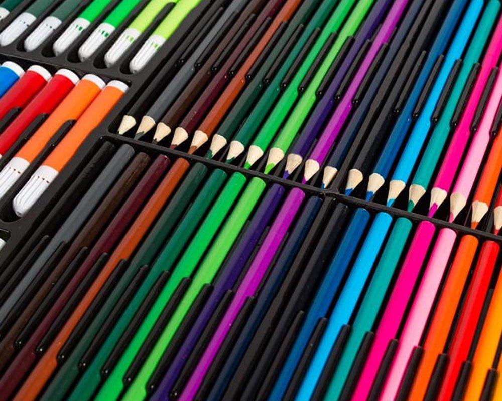 BoTen Watercolor Pen Crayon Color Pencils Painting Portfolio Set (258 Color) by BoTen (Image #6)