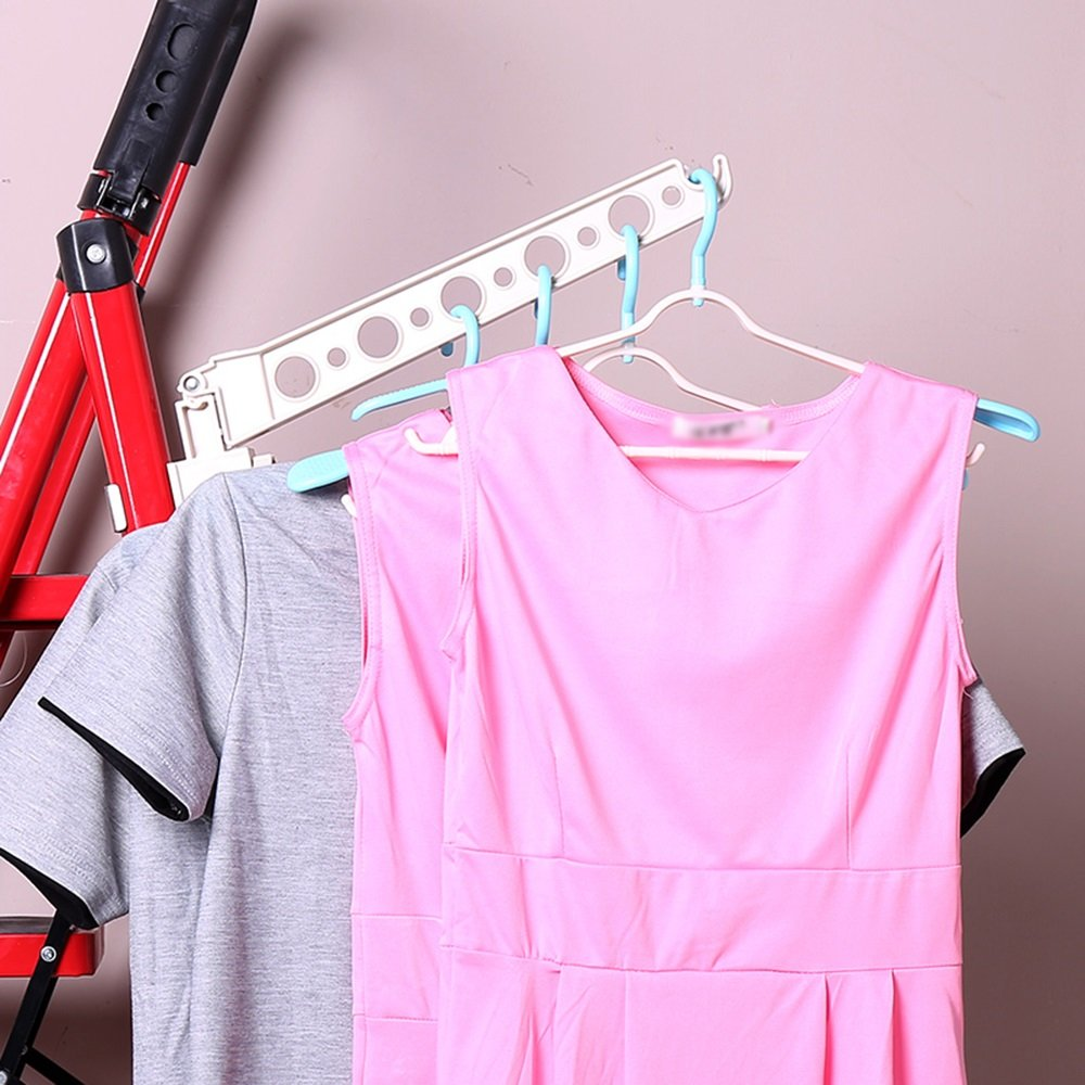 Snap-in plastic hangers/doors and windows clothes rack/multi-function, simple and practical (Style : B)