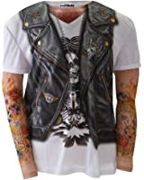 Old Glory Men's Faux - Biker with Tattoos Long Sleeve Costume
