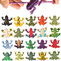 Frog Toys12 Pack Mini Rubber Frog setsFood Grade Material TPR Super StretchesWith Gift Bag And Learning Study…