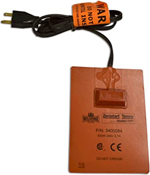 Transmission 18 cm 120 Volts 500 Watts 13 cm Reservoir and Hydraulic Fluid Heater Zerostart 3400034 Silicone Pad Engine Oil | CSA Approved 5 x 7