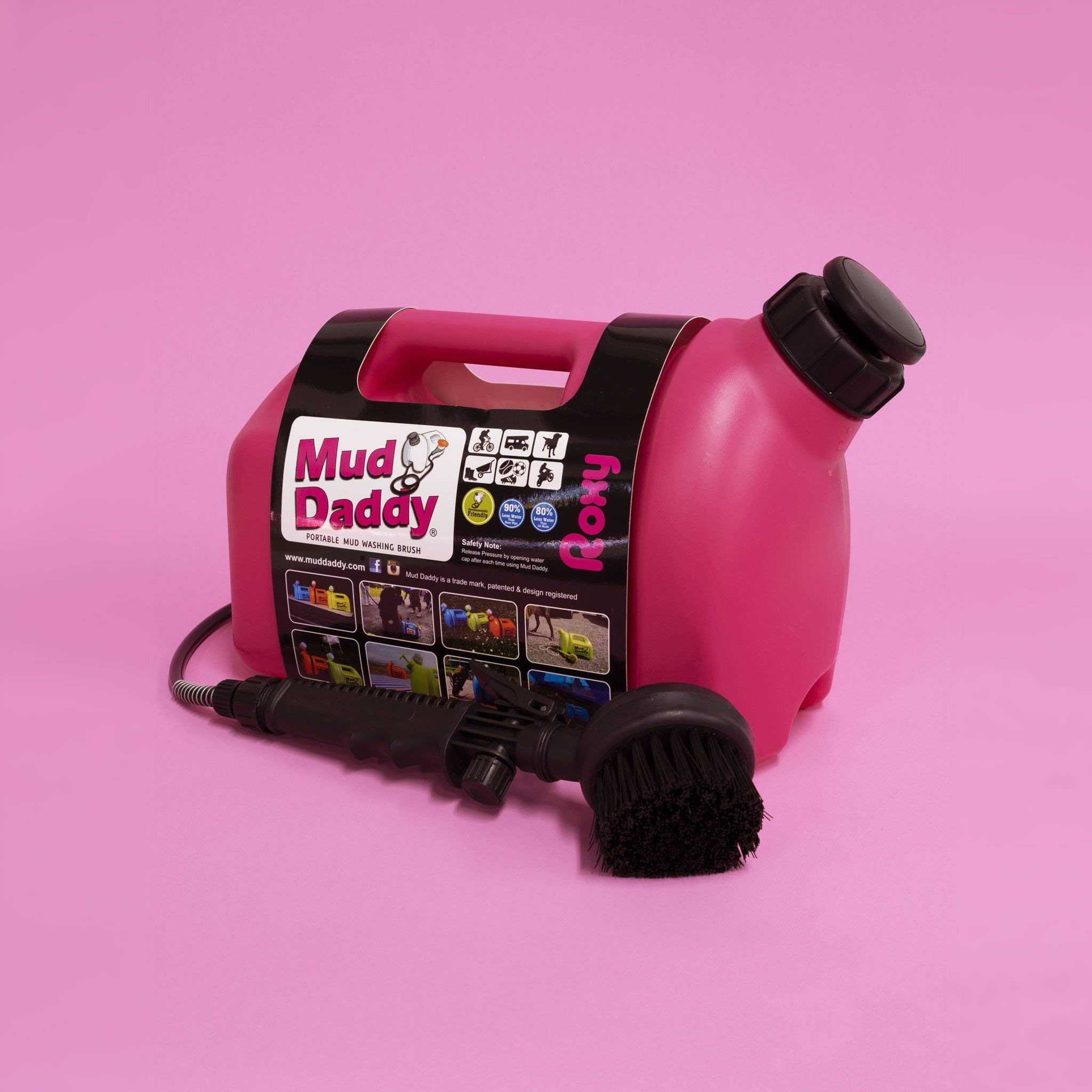 Mud Daddy Portable Washing Device for Dogs, Horses, Outdoor & Camping, Bikes (Pink) by Mud Daddy