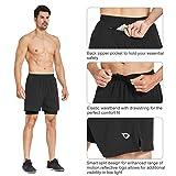 BALEAF Men's 2-in-1 Running Athletic Shorts Zipper