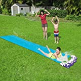 Sushelp Lawn Water Slides Slip and Slide for Kids Lawn Garden Play Swimming Pool Games Outdoor Party Water Toys